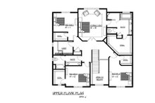 Traditional Floor Plan - Upper Floor Plan Plan #320-500