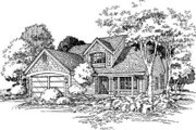 Traditional Style House Plan - 4 Beds 2.5 Baths 2272 Sq/Ft Plan #320-113 Exterior - Front Elevation