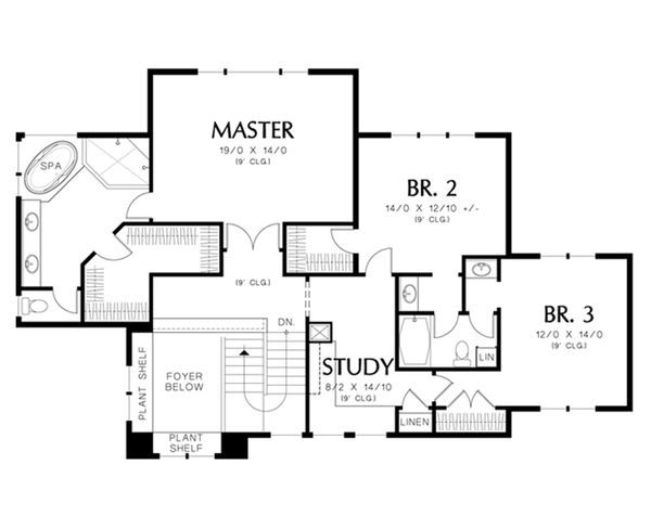 Prairie Floor Plan - Upper Floor Plan #48-464