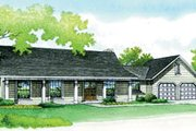 Traditional Style House Plan - 3 Beds 2 Baths 1395 Sq/Ft Plan #45-106 Exterior - Front Elevation