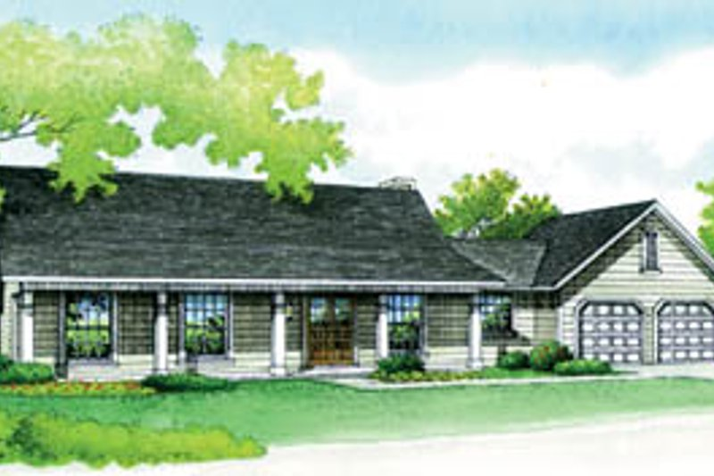 House Blueprint - Traditional Exterior - Front Elevation Plan #45-106