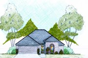 Traditional Style House Plan - 3 Beds 2 Baths 1600 Sq/Ft Plan #36-480 Exterior - Front Elevation