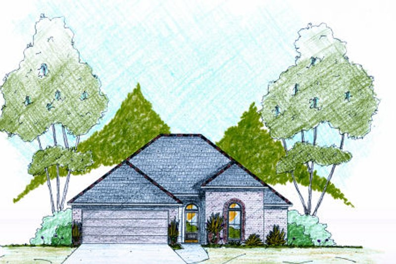 Architectural House Design - Traditional Exterior - Front Elevation Plan #36-480