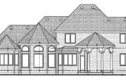 European Style House Plan - 4 Beds 3.5 Baths 3060 Sq/Ft Plan #20-2117 Exterior - Rear Elevation
