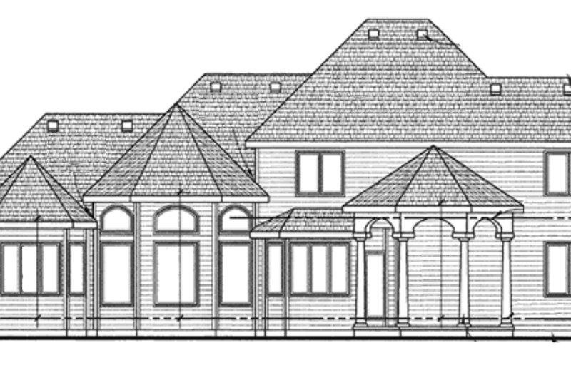 European Exterior - Rear Elevation Plan #20-2117 - Houseplans.com