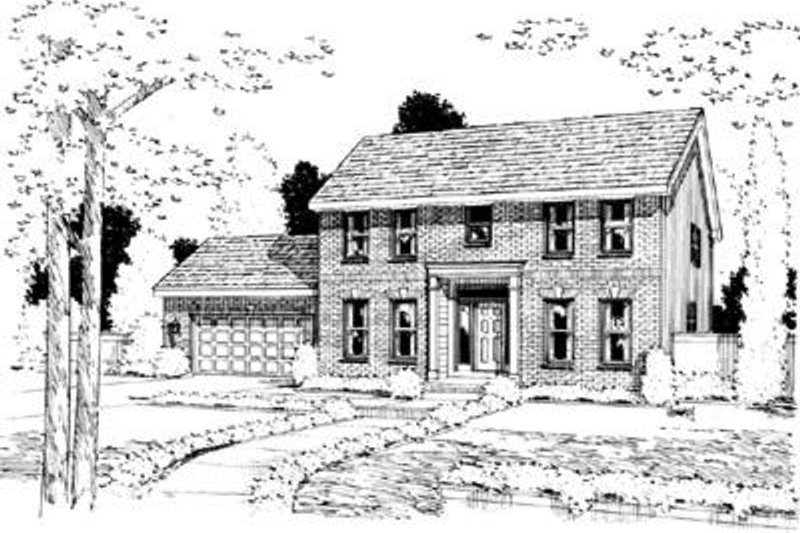 Colonial Exterior - Front Elevation Plan #20-940