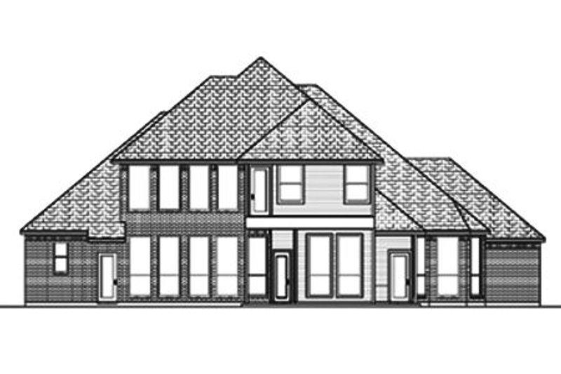 European Exterior - Rear Elevation Plan #84-408 - Houseplans.com