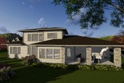 Modern Style House Plan - 3 Beds 3.5 Baths 2950 Sq/Ft Plan #70-1284 Exterior - Rear Elevation