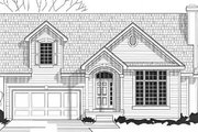 Traditional Style House Plan - 3 Beds 2.5 Baths 1465 Sq/Ft Plan #67-467 Exterior - Front Elevation