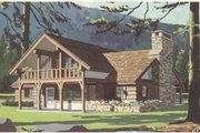 Cottage Style House Plan - 3 Beds 1 Baths 1198 Sq/Ft Plan #12-115 Exterior - Front Elevation