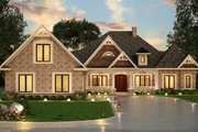 Ranch Style House Plan - 3 Beds 3 Baths 2474 Sq/Ft Plan #119-431 Exterior - Front Elevation