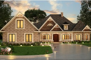 Ranch Exterior - Front Elevation Plan #119-431