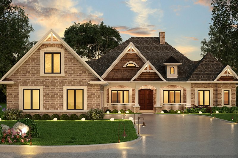 Home Plan - Ranch Exterior - Front Elevation Plan #119-431
