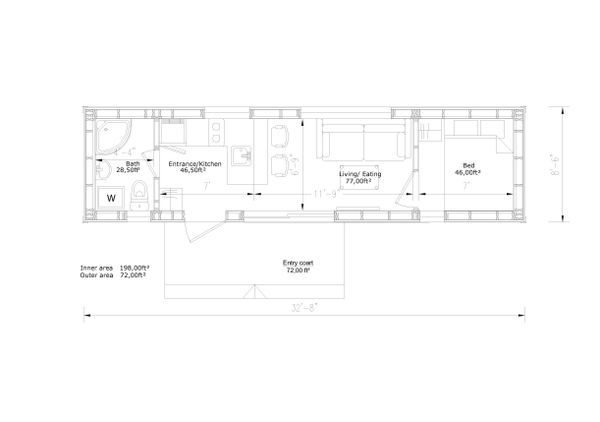 Modern Floor Plan - Main Floor Plan Plan #549-20