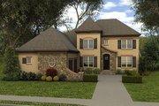 European Style House Plan - 5 Beds 4 Baths 3436 Sq/Ft Plan #413-883
