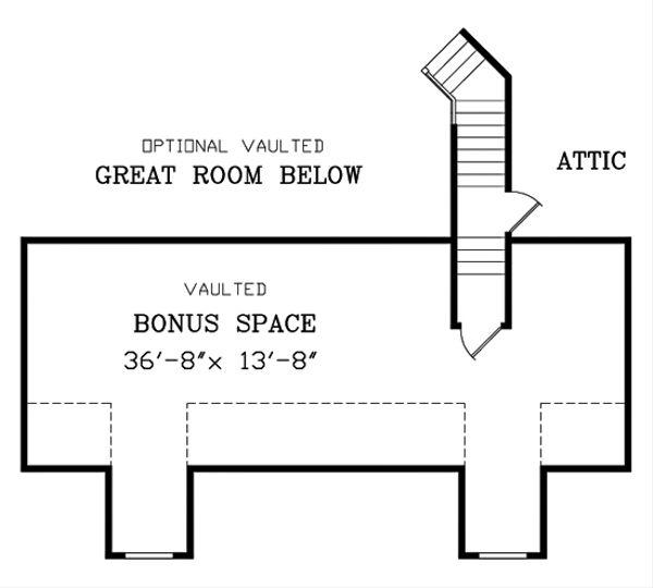 Southern Floor Plan - Upper Floor Plan #456-13