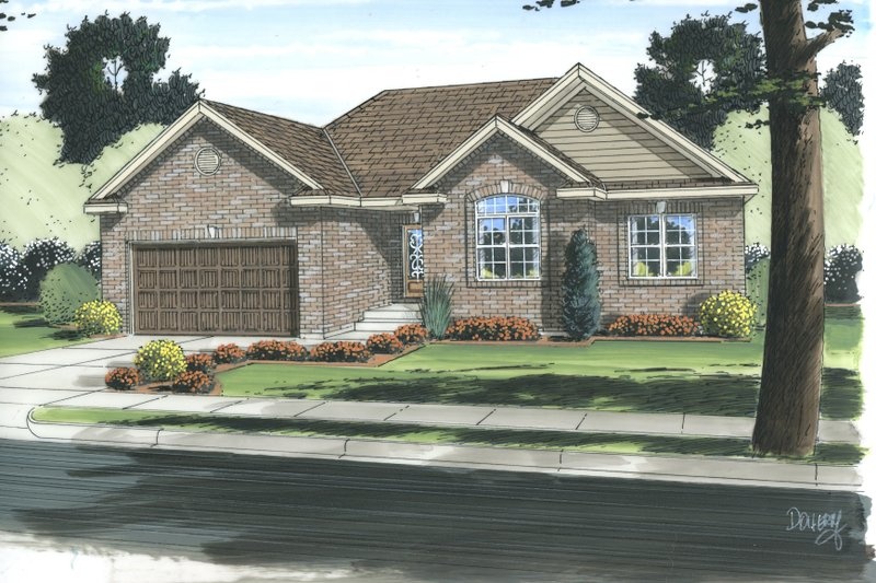 Traditional Style House Plan - 3 Beds 2 Baths 1550 Sq/Ft Plan #455-201 Photo