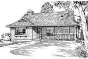 Farmhouse Style House Plan - 3 Beds 2 Baths 1383 Sq/Ft Plan #47-169 Exterior - Front Elevation