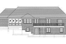 Cottage Exterior - Rear Elevation Plan #46-402