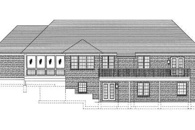Cottage Exterior - Rear Elevation Plan #46-402 - Houseplans.com