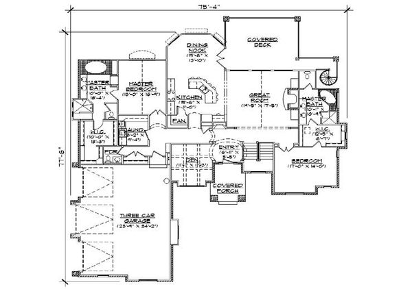 Traditional Floor Plan - Main Floor Plan Plan #5-302