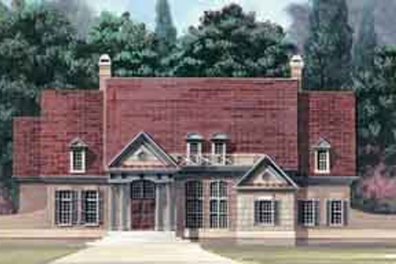 House Plan Design - Colonial Exterior - Front Elevation Plan #119-137