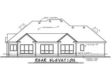 European Exterior - Rear Elevation Plan #20-2264