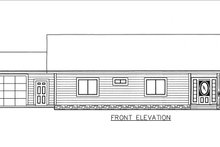 Ranch Exterior - Front Elevation Plan #117-882