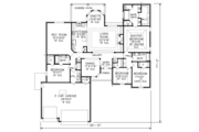 Traditional Style House Plan - 4 Beds 3 Baths 2493 Sq/Ft Plan #65-526 Floor Plan - Main Floor Plan