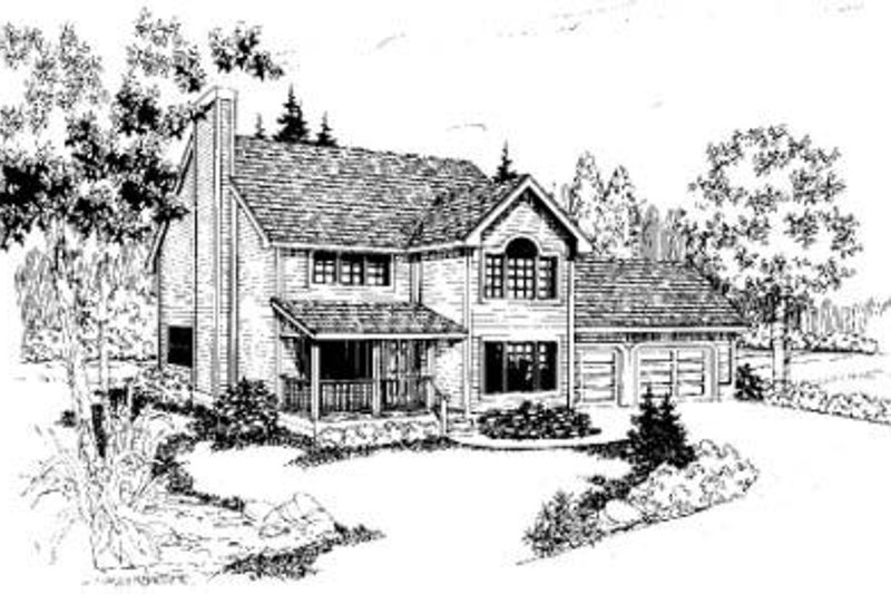 Traditional Exterior - Front Elevation Plan #60-339 - Houseplans.com