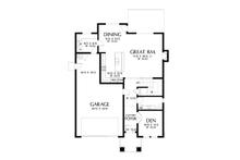 Contemporary Floor Plan - Main Floor Plan Plan #48-990