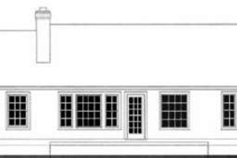 Traditional Exterior - Rear Elevation Plan #406-211 - Houseplans.com