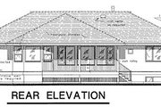 European Style House Plan - 2 Beds 1.5 Baths 1565 Sq/Ft Plan #18-172 Exterior - Rear Elevation