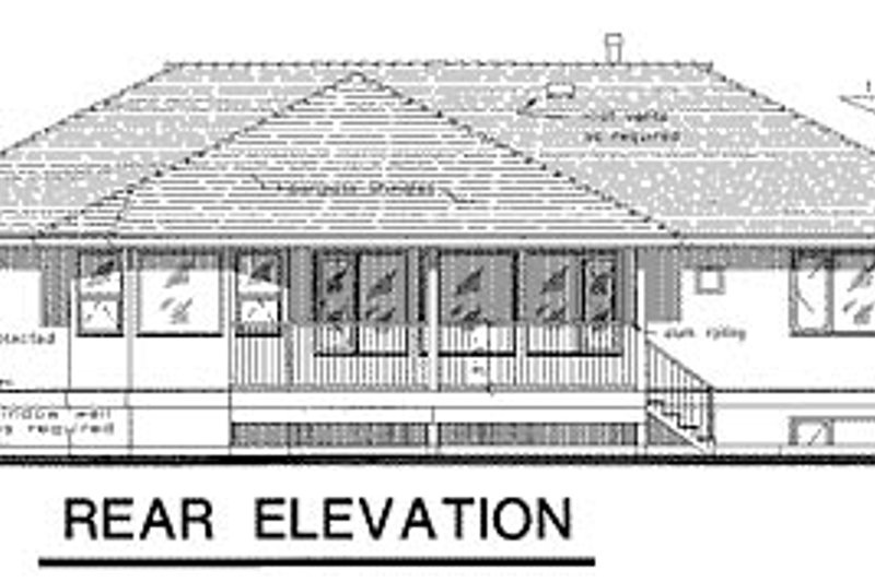 European Exterior - Rear Elevation Plan #18-172 - Houseplans.com