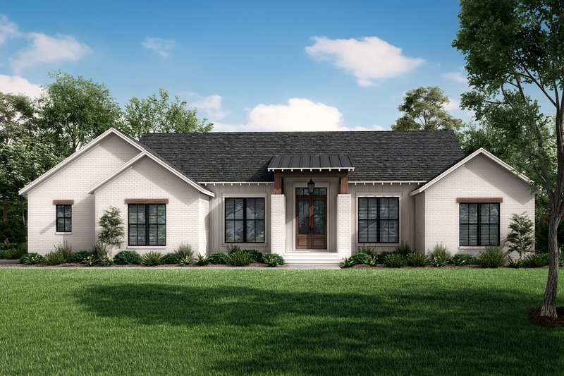 Architectural House Design - Ranch Exterior - Front Elevation Plan #430-252