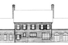 House Blueprint - Southern Exterior - Rear Elevation Plan #72-189