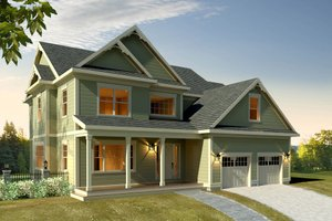 Architectural House Design - Farmhouse Exterior - Front Elevation Plan #497-16