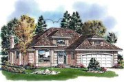 European Style House Plan - 2 Beds 2 Baths 1570 Sq/Ft Plan #18-338 Exterior - Front Elevation