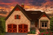 European Style House Plan - 2 Beds 2 Baths 1625 Sq/Ft Plan #70-1161 Exterior - Front Elevation