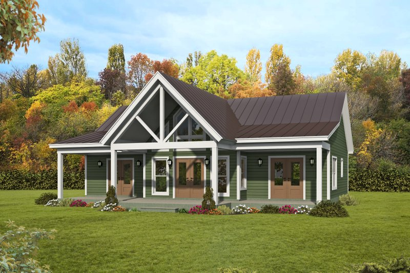 Architectural House Design - Ranch Exterior - Front Elevation Plan #932-395