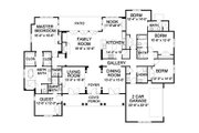 Traditional Style House Plan - 5 Beds 4.5 Baths 3538 Sq/Ft Plan #490-3 Floor Plan - Main Floor Plan