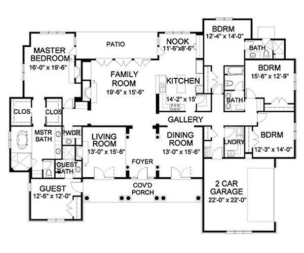 Traditional Floor Plan - Main Floor Plan Plan #490-3