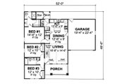 Cottage Style House Plan - 3 Beds 2 Baths 1271 Sq/Ft Plan #513-2044 Floor Plan - Main Floor Plan