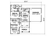 Cottage Style House Plan - 3 Beds 2 Baths 1271 Sq/Ft Plan #513-2044 Floor Plan - Main Floor