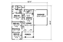 Cottage Floor Plan - Main Floor Plan Plan #513-2044
