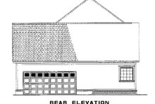 House Plan Design - Southern Exterior - Rear Elevation Plan #17-2047