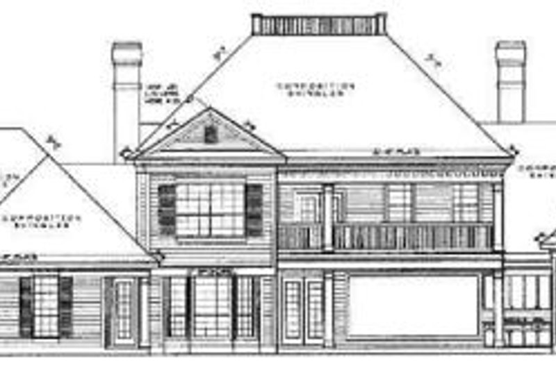 Colonial Exterior - Rear Elevation Plan #61-130 - Houseplans.com