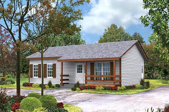 Cottage Exterior - Front Elevation Plan #57-220
