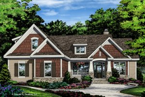 Craftsman Exterior - Front Elevation Plan #929-1027