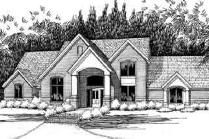 Traditional Exterior - Front Elevation Plan #120-113 - Houseplans.com